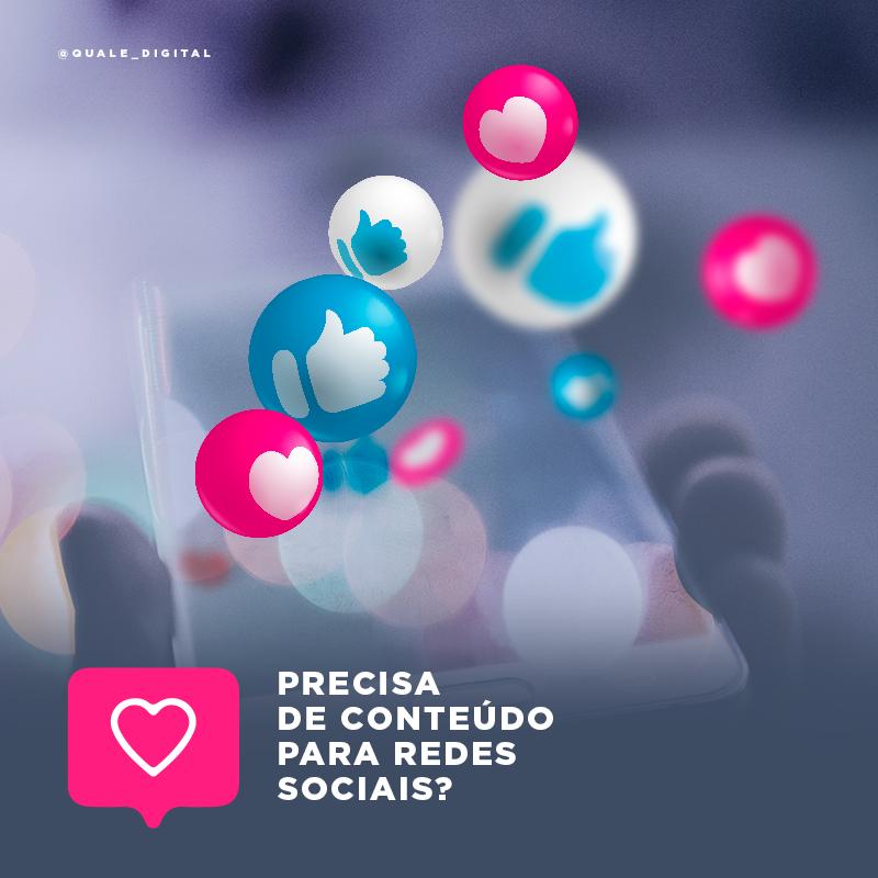 redes sociais com conteudo original